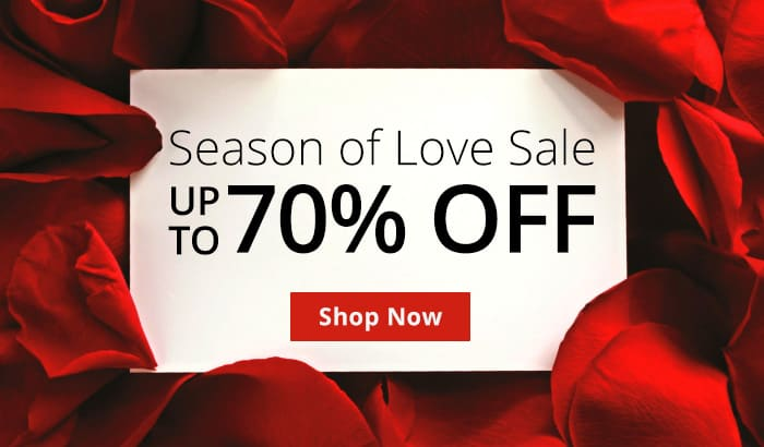 Season Of Love Sale! Up To 70% Off!