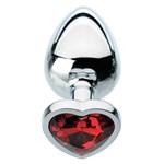 red hearts gem anal plug