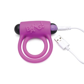 28x silicone cockring and bullet with USB charging cable in charging port