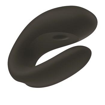 Satisfyer Double Joy Partner Vibrator Product Shot Showing Top - Black
