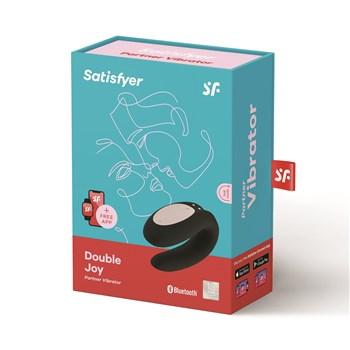Satisfyer Double Joy Partner Vibrator Package Shot - Black