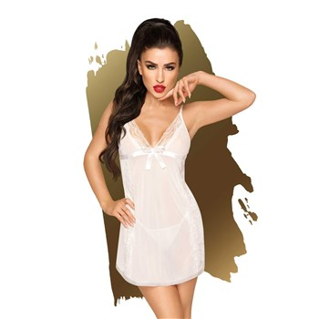 E578 CASUAL SEDUCTION BABYDOLL   FRONT WHITE