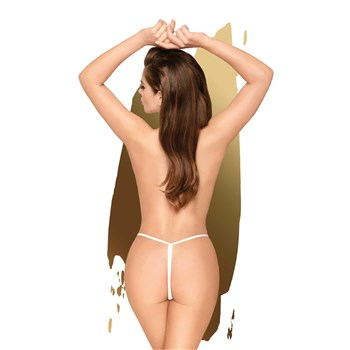 E583   HOT GETAWAY CROTCHLESS G-STRING   WHITE BACK