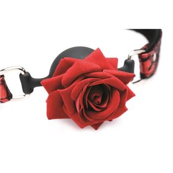 Master Series Full Bloom Rose Ball Gag Close Up of Rose
