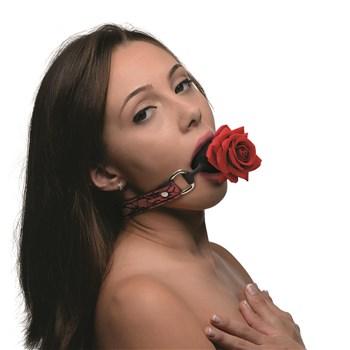Master Series Full Bloom Rose Ball Gag - Model Shot