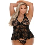 E708 FLOWER LACE BABYDOLL FRONT