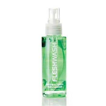 Fleshwash anti-bacterial toy cleaner front of bottle