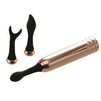 Intense Triple Tip Clitoral Massager All Components
