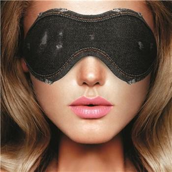 Denim Bondage Kit - Model Wearing Blindfold