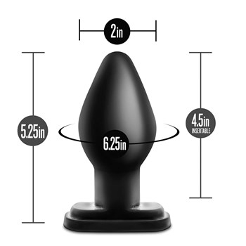 Anal Adventures XL Plug with measurements