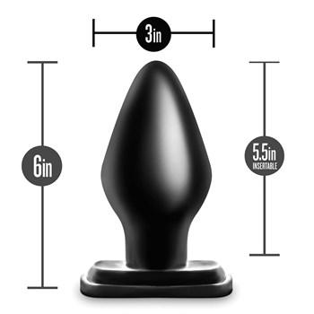 Anal Adventures XXL Plug with measurements