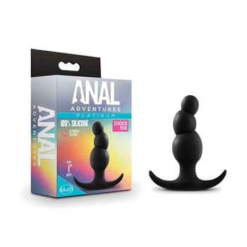Anal Adventures Platinum Stacked Plug with box packaging