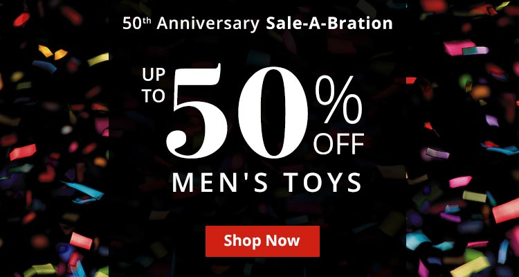 Save Up To 50% Off Mens Toys Now!