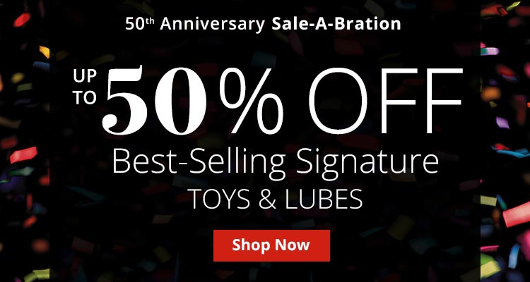 Save Up To 50% Off Best Selling AE Signature Toys And Lubes!