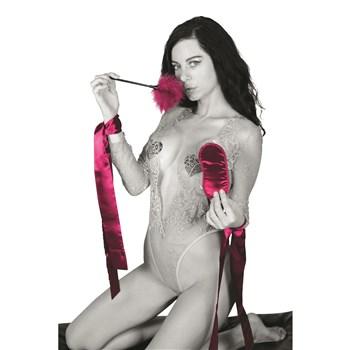 Sex & Mischief Enchanted Starter Bondage Kit - Model Wearing Kit Items