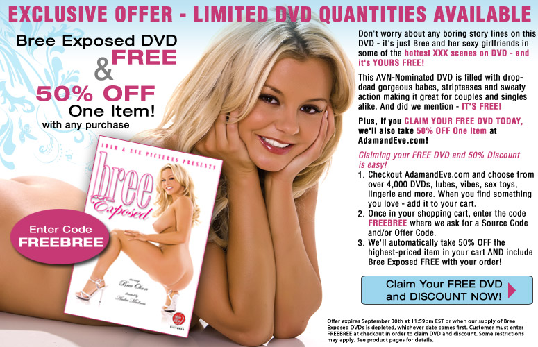 Bree Exposed DVD FREE and 50% Off One Item!