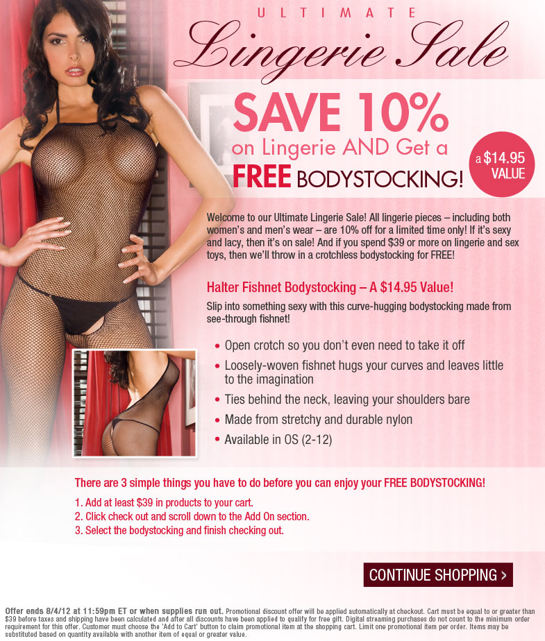 Ultimate Lingerie Sale + Get A FREE Bodystocking